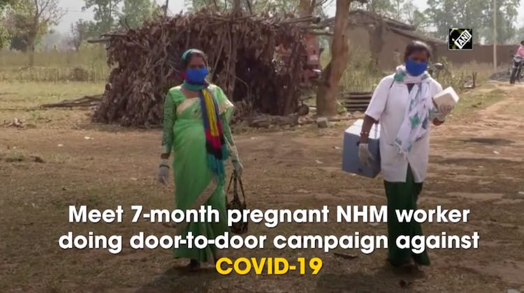 Meet 7-month Pregnant NHM Worker Campaigning Again
