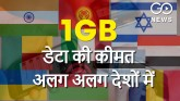 what is the cost of 1gb data in different countrie
