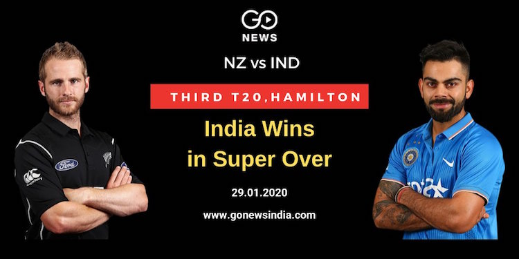 In the third T20, India defeated New Zealand in th