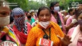 Trade Unions Protest At Jantar Mantar, ASHA Worker