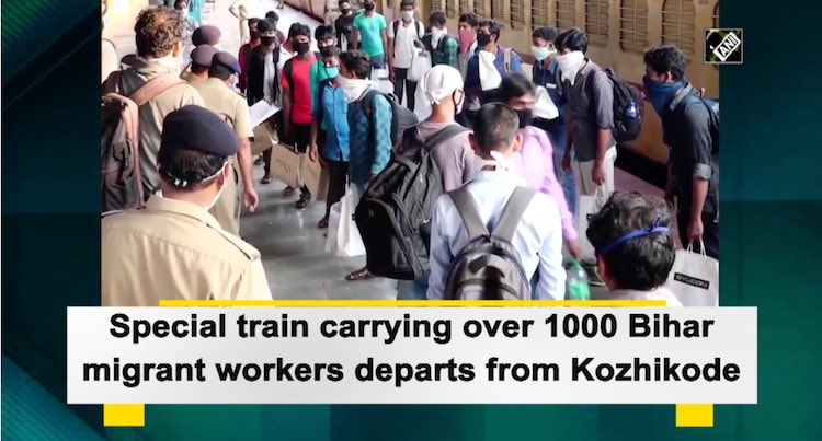 Special Train With Over 1000 Migrant Workers Depar