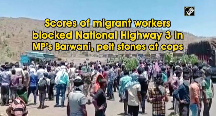 Scores Of Migrant Workers Blocked National Highway
