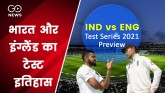 Take a look at Test history of India and England