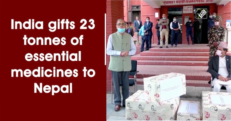 India Gifts 23 Tonnes Of Essential Medicines To Ne