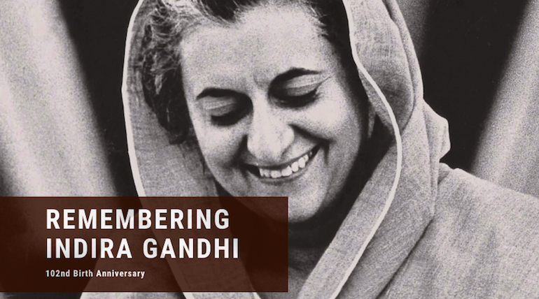 Many people paid tribute to former PM Indira Gandh