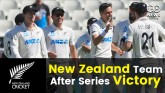 New Zealand Team after first Test series win in En