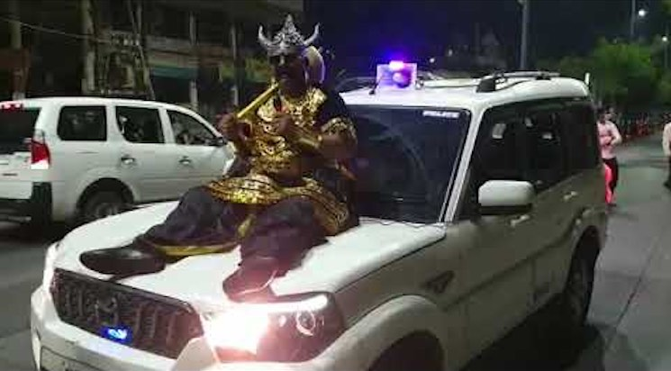COVID-19: Police Constable Dressed Up As 'Yamraj'