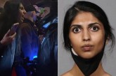 Indian woman spits on police in anti-Trump protest