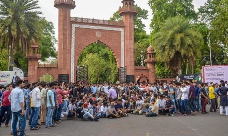 400 people sued for candle march in AMU