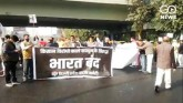 DELHI CONGRESS PROTEST IN SUPPORT OF BHARAT BANDH