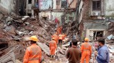 Residential buildings fell in two places in Mumbai