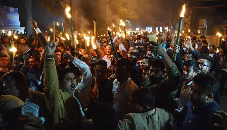 Torch processions in Kerala, Delhi and Assam again