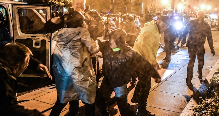 clashes between Trump supporters and opponents in