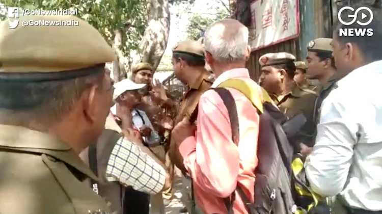 Delhi Police detained people going to join protest