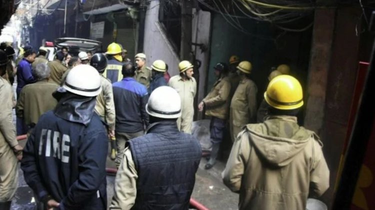 FACTORY FIRE CLAIMS 43 LIVES IN NORTH DELHI