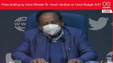 Press briefing by Union Minister Dr. Harsh Vardhan