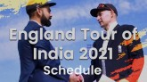 England tour of India 2021, see full schedule