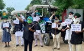 Protest of farmers' organizations against three ce