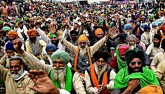The agitation of farmers continues on the 21st day