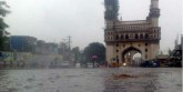 Heavy rains disrupted life in Hyderabad, at least