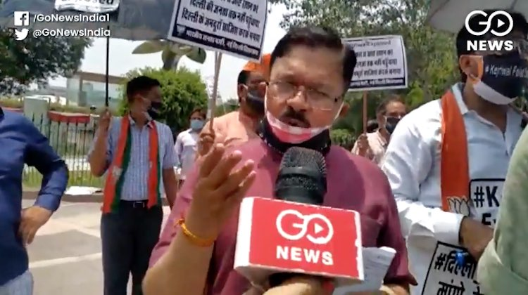 BJP leaders protest in Delhi, says government fail