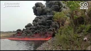 A River On Fire In Assam's Duliajan