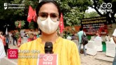 Left-wing protests at Jantar Mantar against Hathra