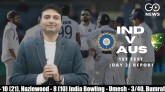 India v Australia, First Test (Day 2) Report