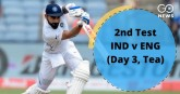 Second test, third day: India's position against E
