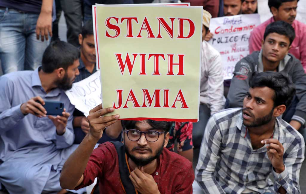 Demonstration in support of Jamia Students in Luck