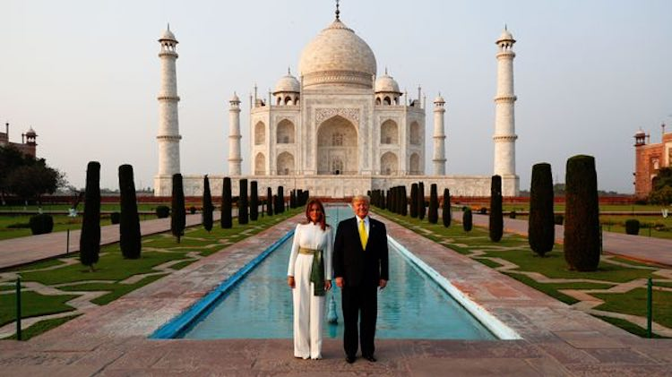 President Trump, Ahmedabad and Taj Mahal visited o