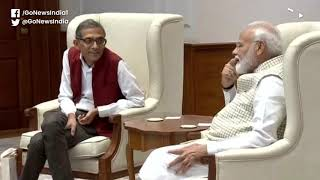 Nobel Laureate Abhijit Banerjee Meets PM Modi In D