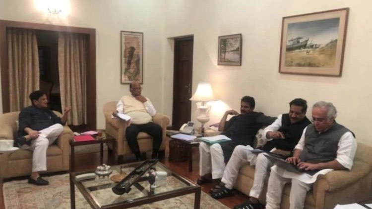 NCP-Congress meet in Delhi for Maharashtra Governm