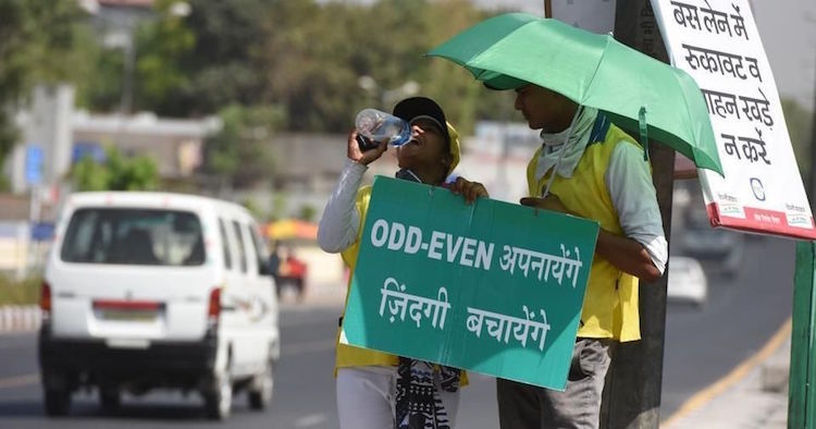 ODD-EVEN RULE RETURNS IN DELHI FROM 8AM TO 8PM. IT