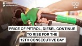 Fuel Prices Continue To Rise For The Twelfth Strai