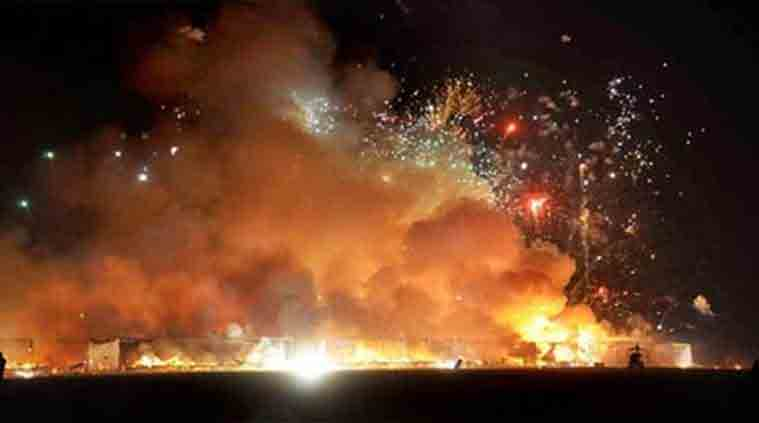How does burning firecrackers affect the environme