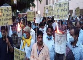 Uttar Pradesh: Torch procession against the privat