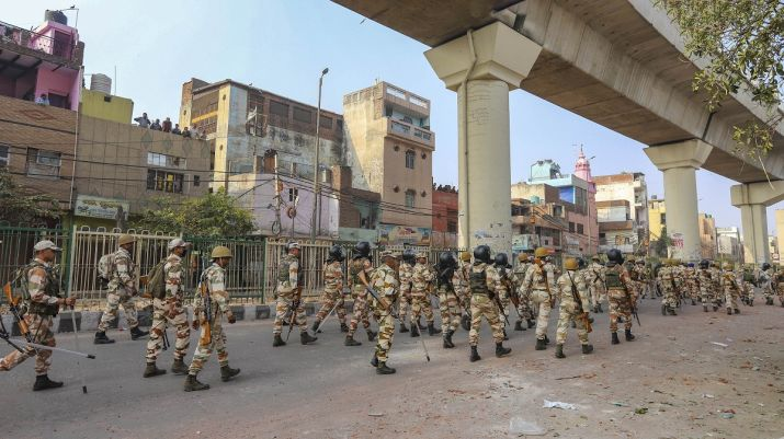 Paramilitary March In N.East Delhi - Too Little, T