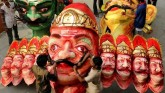 The effigy of Ravana burning on Dussehra also hit