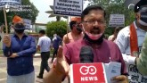 BJP's demonstration in Delhi despite the Corona th