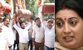 Youth Congress Stages Protest Outside Smriti Irani