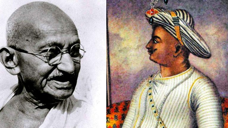 Mahatma Gandhi's reply to those who declared Tipu