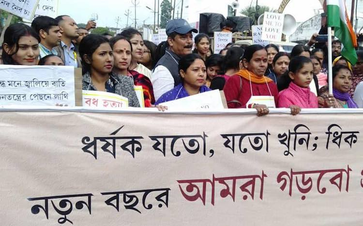 Tripura: BJP workers rally against their own gover