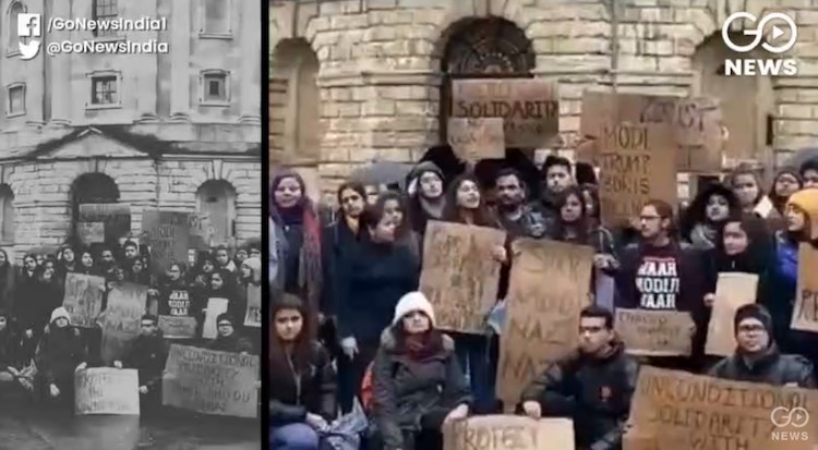 Demonstration against Jamia violence in Oxford-Har