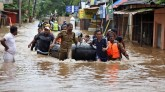 Five deaths due to floods in Kerala, ladslide in I