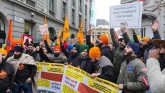 Protest outside the Indian High Commission in Lond