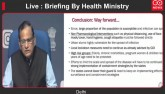 Live : Briefing By Health Ministry
