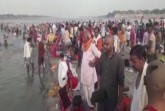 Hundreds of people took a plunge in Prayagraj with
